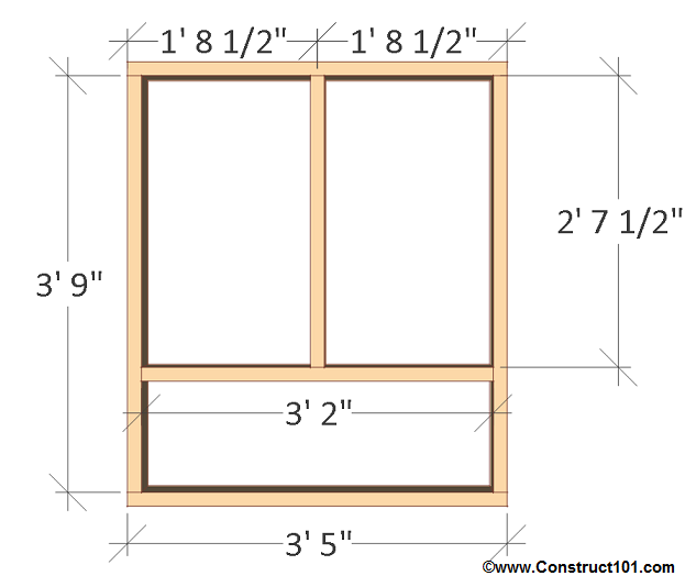 Free 4x8 chicken coop plans left wall frame.