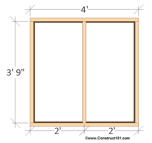 4x4 chicken coop plans back wall frame.