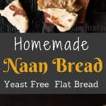 Homemade Naan Bread with Text Overlay
