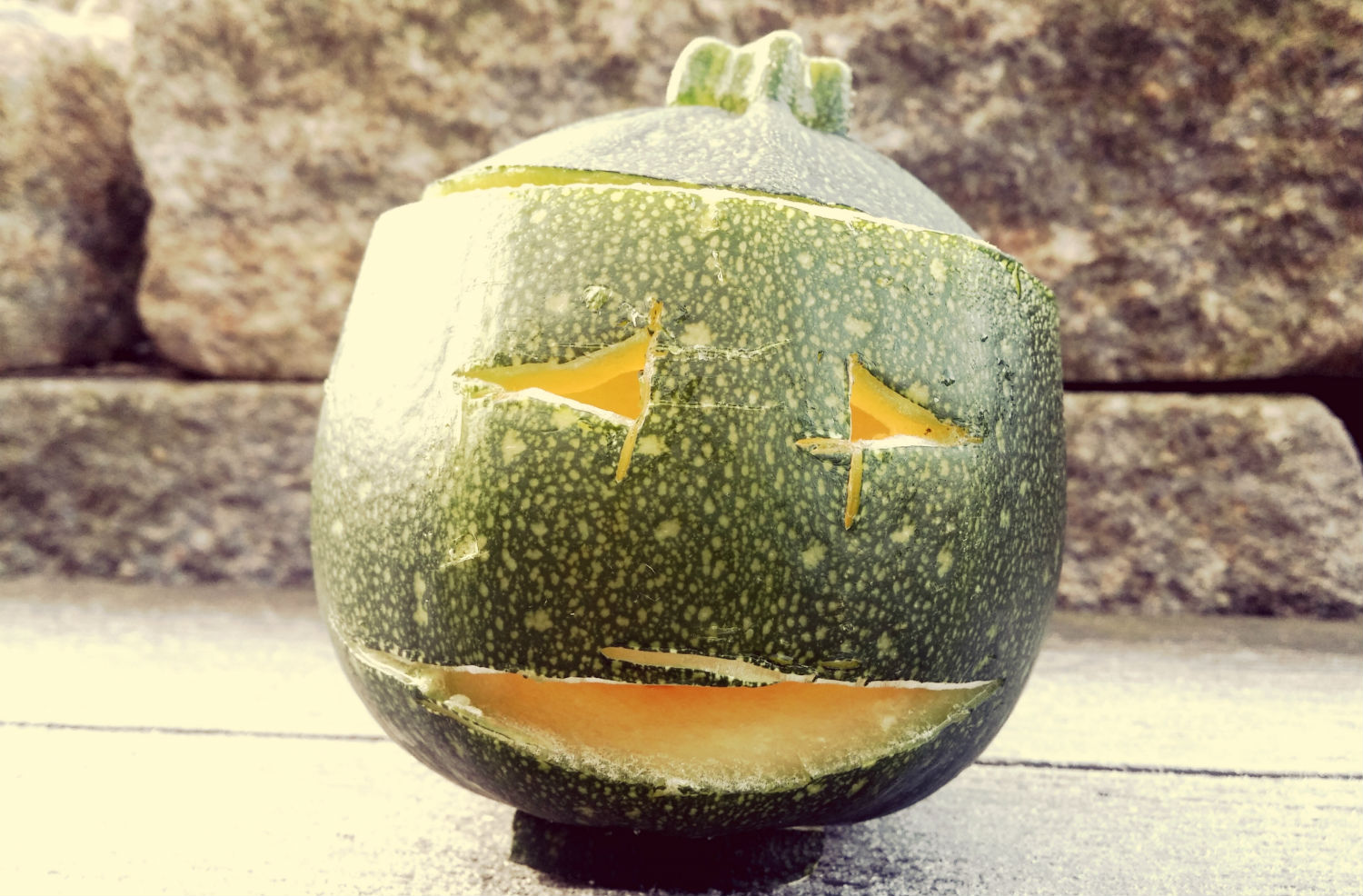 alternative to pumpkin zucchini jackolantern